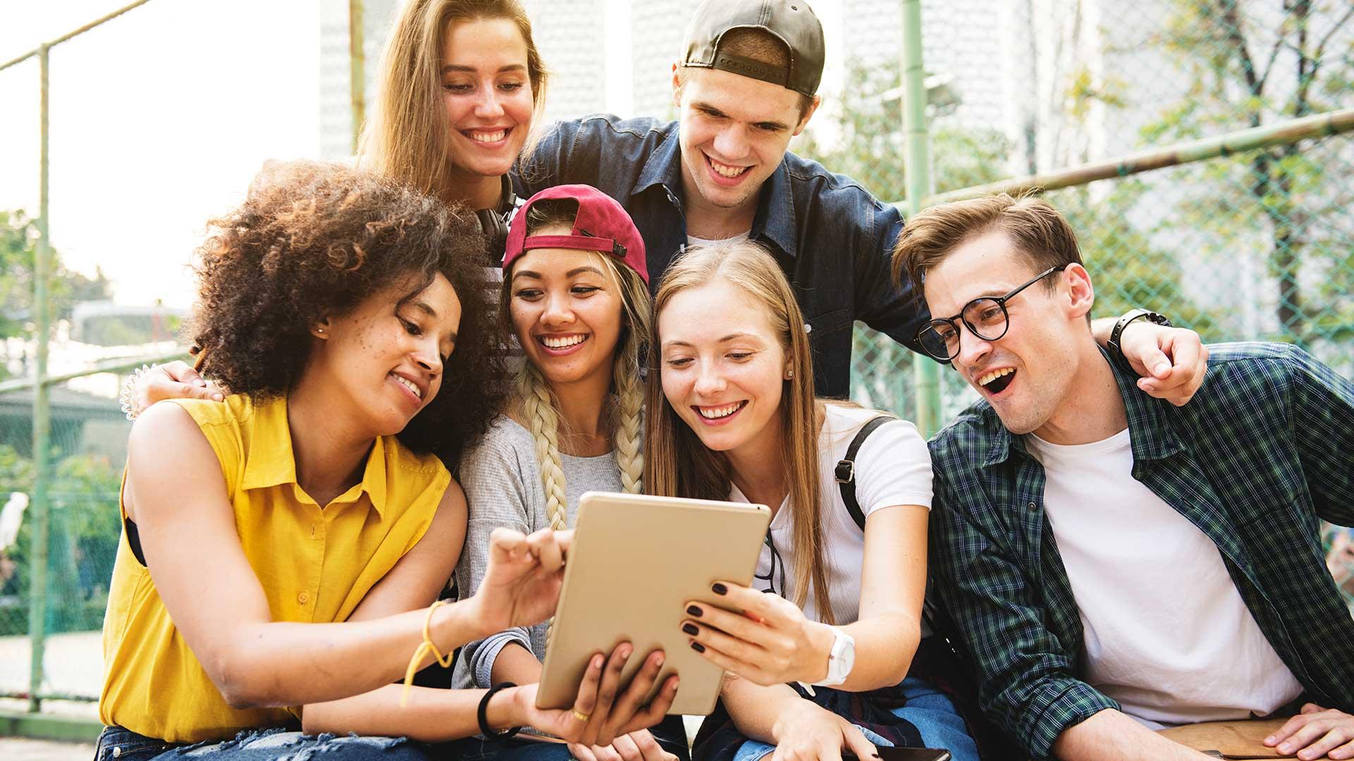 Studenten freuen sich über Website